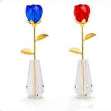 Angelic Unique Saint-Valentin Cristal Verre Rose Fleur pour petite amie