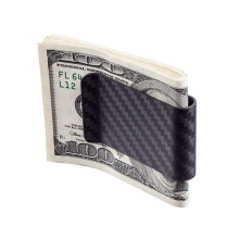 Simple style carbon money clip