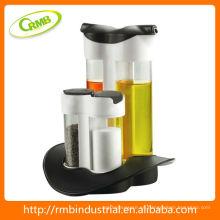 Botella de aceite de plástico