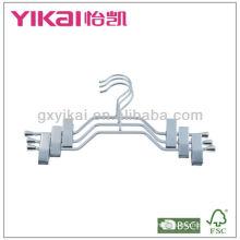 Ensemble de cintres métalliques chromés 3pcs avec clips en métal et porte-ceinture