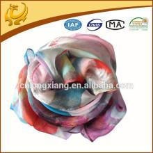 Echarpe en mousseline de soie à manches longues et fines écharpes en mousseline de soie