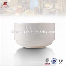 Vajilla de la vajilla cerámica blanca apilable sopera personalizada