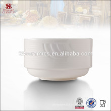 Посуда посуда из белой керамики стекируемых персонализированные чаша суп