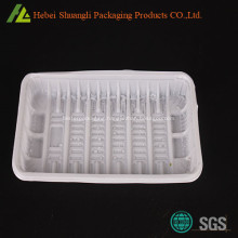 Rectangular disposable plastic fruit tray for sale
