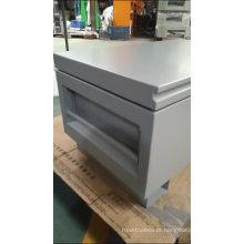Caixa de ferramentas do metal do canteiro de obras da cama do caminhão com rodas impermeáveis Caixa de ferramentas do metal do canteiro de obras da cama do caminhão com rodas