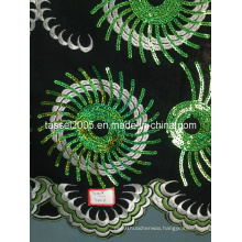 Swiss Voile Fabric Style Obama Lace with Sequins for Wedding.