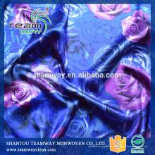 Gedruckt 100% Polyester Satin Stoff für TEAMWAY