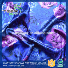 Printed 100% Polyester Satin Fabric For TEAMWAY