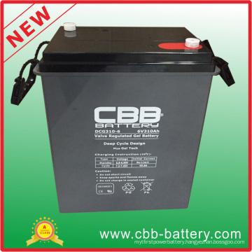Deep Cycle Rechargeable Battery 6V310ah Sealed Lead Acid Gel Battery, 6V SLA VRLA Battery