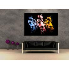 Arte abstracto de la pared de los cantantes
