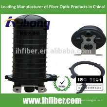 4 orificio de cable vertical / cúpula Fibra óptica Cierre de empalme