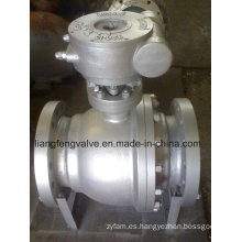Válvula de bola de extremo de brida montada en muñón