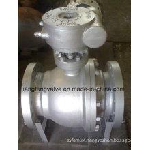 Válvula de esfera de extremidade de flange montada no tronco
