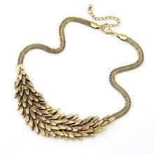Nouvelle conception en forme de plume en alliage Étoiles Colliers bijoux FN62