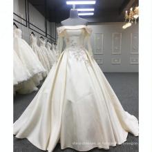 Alibaba Elegante Vestido Longo Noite Champanhe Bordado Rendas Vestidos de Festa À Noite