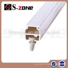 Système de rail à rideau suspendu en plastique blanc Panneau de rideau en panneaux PVC SC06