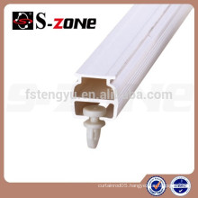 White Plastic Hanging Curtain Rail System Panel Curtain Track PVC SC06
