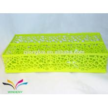 Material de escritório caixa de malha caixa de arame caixa metálica recipiente de armazenamento caixa de armazenamento multiuso
