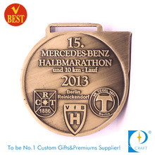 Cobre personalizado de China que carimba a medalha da maratona de 10 quilômetros com alta qualidade