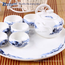 Mountains And Waters Painting Fine Ceramic Chinese Scenery Tea Sets, Japanese Tea Sets Antique