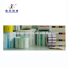 Etiquetas adhesivas adhesivas de papel al por mayor del rollo de la etiqueta engomada, etiquetas engomadas de papel al por mayor, etiqueta engomada adhesiva de papel
