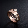 Custom Engraved Rose Gold Promise Rings For Her
