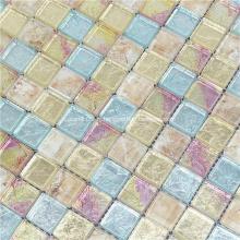 Tuiles de porcelaine de couleur mélangée de cristal de mosaïque