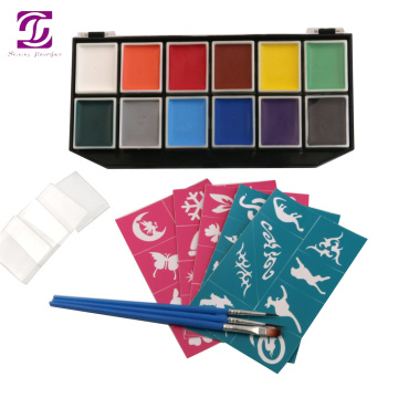 Child Makeup UV Reactive Face Paint Kit