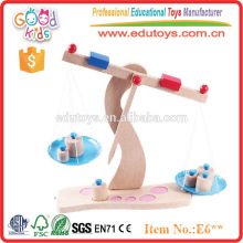 Children Weights Concept Teaching Sets Wooden Kids Balance Scale Toy