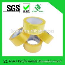 Cinta de acrílico de la base de agua BOPP de la cinta del embalaje del cartón SGS aprobado