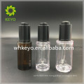 30ml 40ml Hot sale high quality make up packing transparent colored empty cosmetic thick wall PET plastic dropper bottle