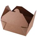 Boîte de nourriture en papier kraft brun personnalisé conteneur de papier de fruits de salade boîte d'emballage de déjeuner de nourriture jetable