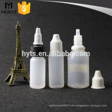 Botella líquida redonda vacía del PE e de 10ml 30ml para el e-líquido
