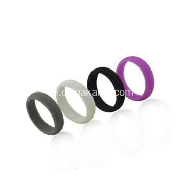Màu sắc pha trộn Thể thao Style Silicone Soft Sport Ring