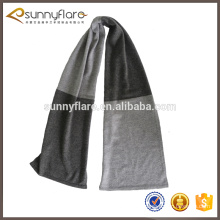 wholesale new design cheap two tone pattern short thin knitted cashmere scarf