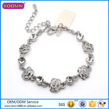 Preço de fábrica de alta qualidade Rose Charm Bracelet para amante