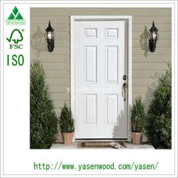 Porte intérieure en bois blanche adaptée aux besoins du client de 6 panneaux