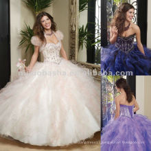 NY-2283 Satin and Tulle with Embroidery and Beading Quinceanera Dress