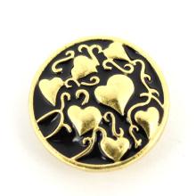 Bracelet en cuir en cuir décoratif Bouton en cristal en alliage de zinc et en alliage