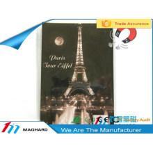 romantic night in Paris eiffel tower tourist souvenirs iron metal tin fridge magnet