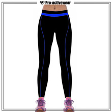 Poliéster Colorido Fitness Activewear Yoga Pantalones