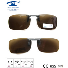 2015 Fashion Design Clip on Sunglasses, Polarized Lens Sunglasses