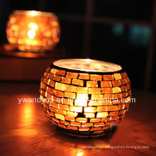 Personalized Mosaic Glass Candle Holder