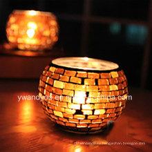 Персонализированный держатель для свечи с мозаикой