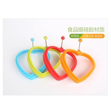 Nouveaux produits en silicone DIY Kitchen Fried Tool Silicone Egg Ring