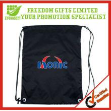 A maioria de logotipo congratulado da qualidade superior imprimiu o saco de cordão personalizado