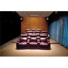 Sofá eléctrico del sofá del cuero de la butaca del cuero genuino Sofá eléctrico del reclinación (823)