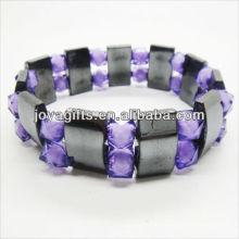 01B5002-1 / nouveaux produits pour 2013 / hematite spacer bracelet en bijoux bracelet / hematite / hématite magnétique bracelets de santé