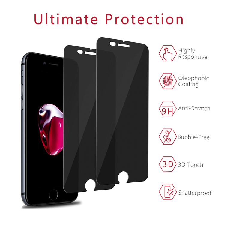 IPhone 8Plus Privacy Tempered Glass