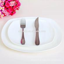 Placa de jantar de porcelana em massa